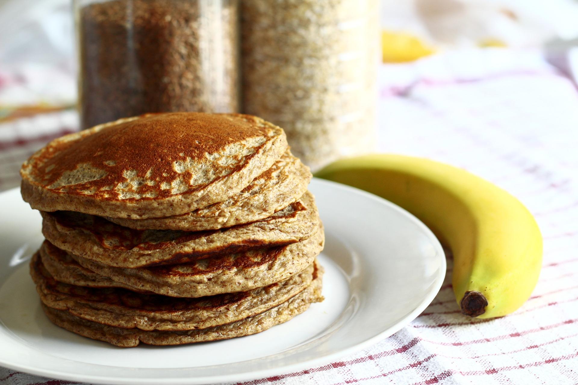 Recept: havermout pannenkoekjes met banaan en yoghurt